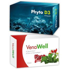 Energie-Paket 4 x Packung Phyto D3 4 x Packung VenaWell